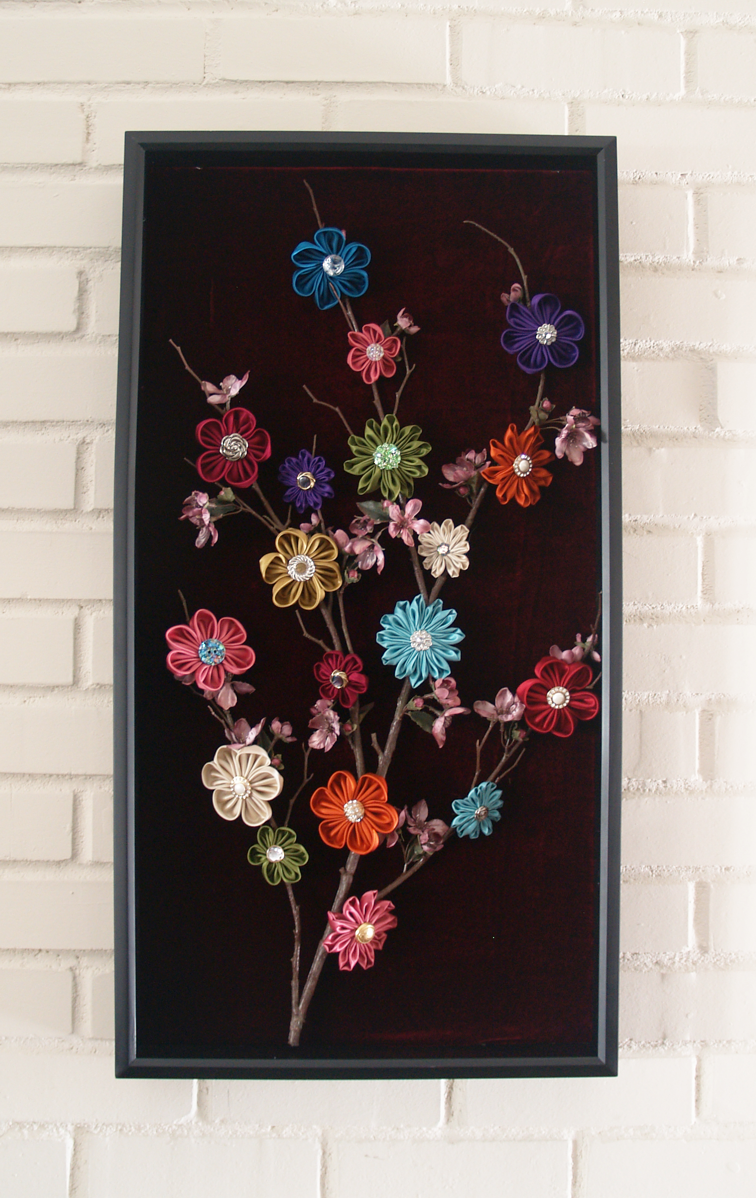 "Kanzashi ""Tree of Life"" Wall Decor 