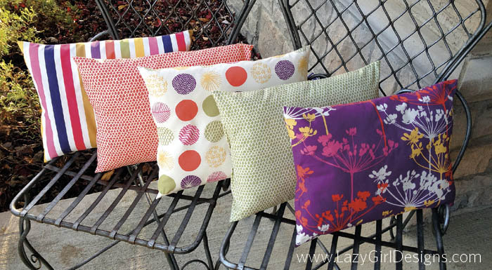 Pretty pillows In A Pinch, LGD133 Fabric is 'Piper' by Dear Stella.