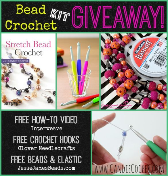 Bead Crochet Kit Giveaway from Clover Needlecrafts, Jesse James Beads, Interweave, and Candie Cooper