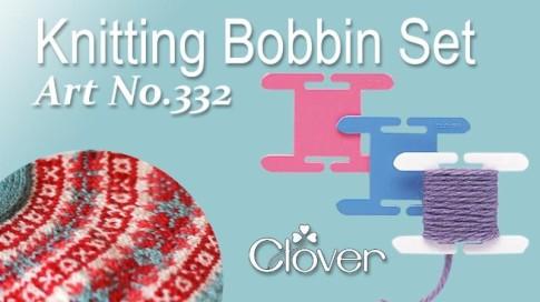 Tool School Knitting Bobbin Set Clover Needlecraft